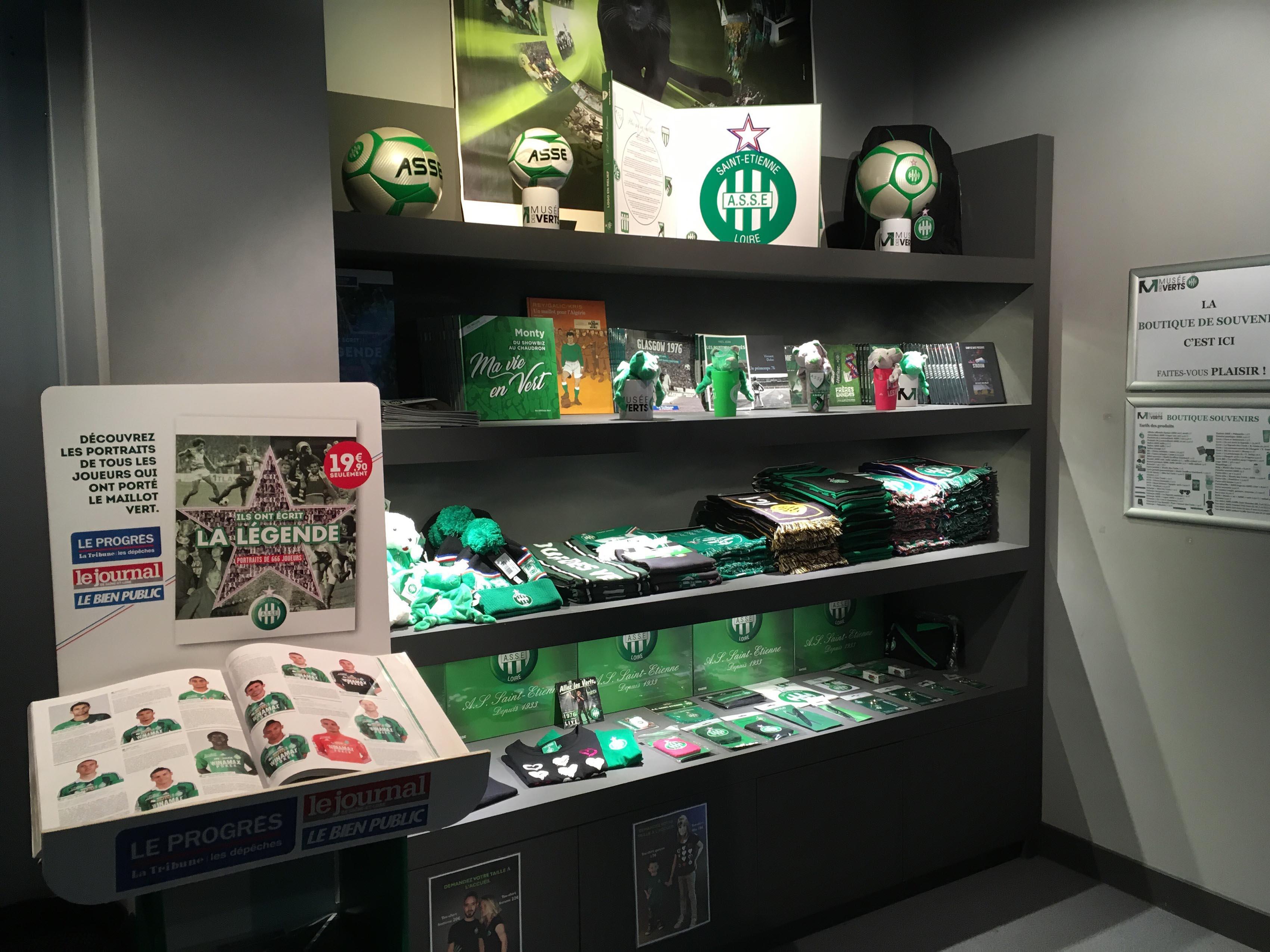 ASSE Musée des Verts - La Mini-Boutique souvenirs 2